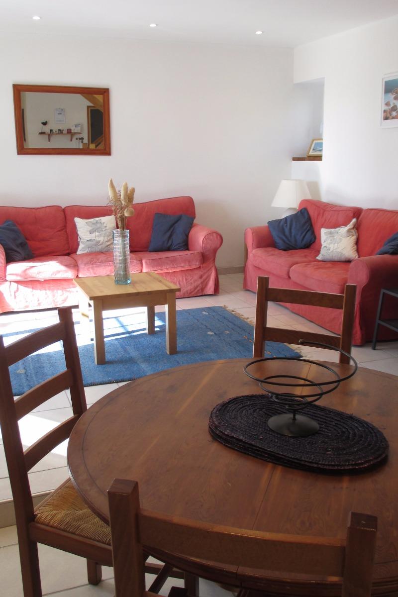 Le salon séjour, location POulain - Location de vacances - Plestin-les-Grèves