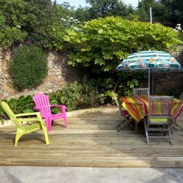 terrasse gite 2/4 pers - Location de vacances - Trévou-Tréguignec