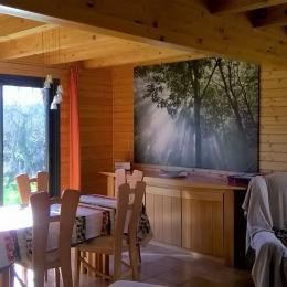 Le salon avec son canapé au confort inoubliable et sa grande TV écran plat - Location de vacances - Ploubazlanec