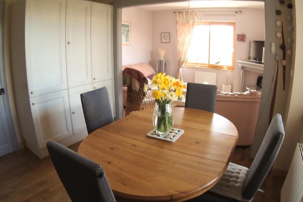 Les Galets - Location de vacances - Pléneuf Val André -  Chambre lits jumeaux (2x90cm) - Lits faits à l'arrivée - Location de vacances - Pléneuf-Val-André