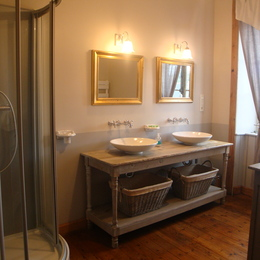 Salle de douche - Location de vacances - Saint-Quay-Portrieux