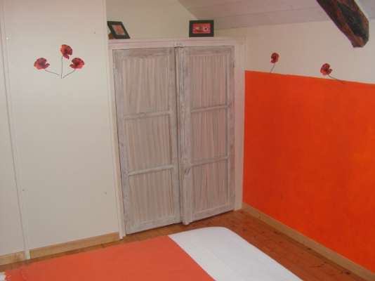 Chambre coquelicot en 1 lit simple - Location de vacances - Fréhel
