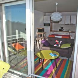Vue du balcon,le séjour - Location de vacances - Erquy