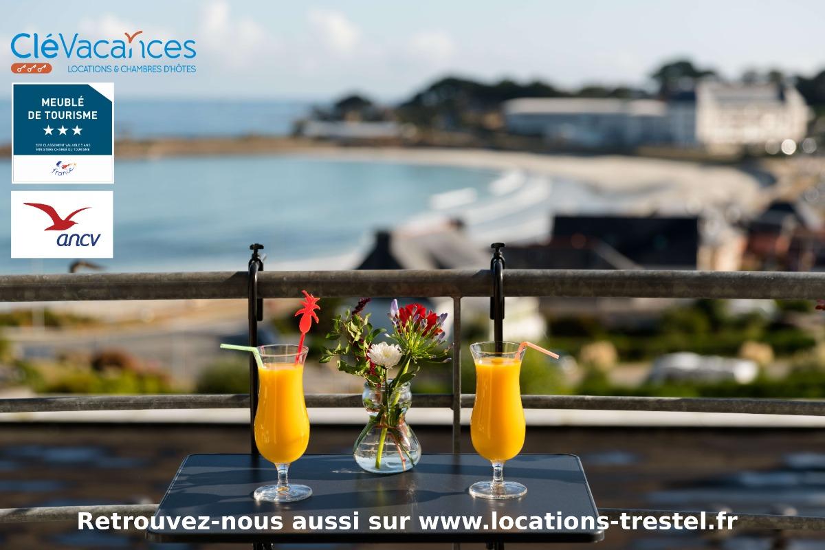 vue mer imprenable  pour cet appartement situé à 50m de la plage de Trestel, idéal pour 2 personnes - Location de vacances - Trévou-Tréguignec