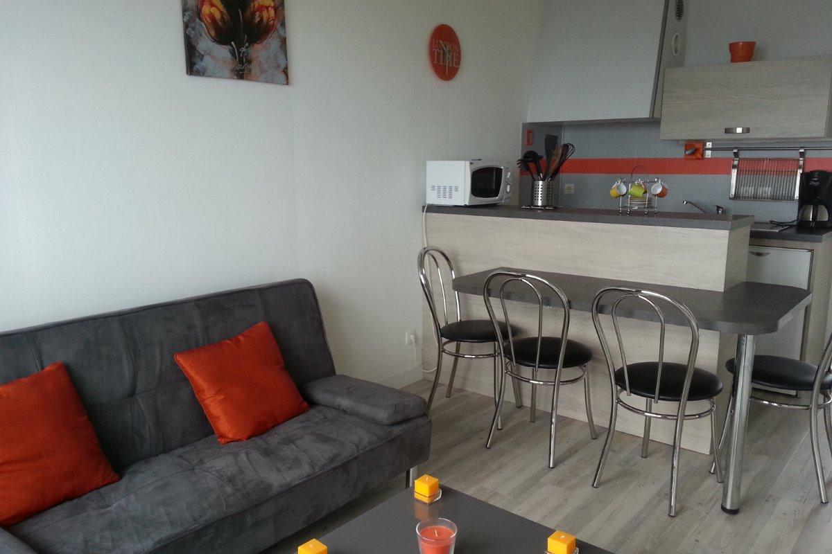 Séjour cuisine - Location de vacances - Trévou-Tréguignec