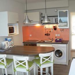 Séjour-cuisine - Location de vacances - Trévou-Tréguignec