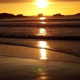 Coucher de soleil à Trestel - Location de vacances - Trévou-Tréguignec