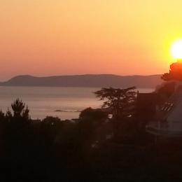 Lever de Soleil depuis les Chambres - Location de vacances - Perros-Guirec