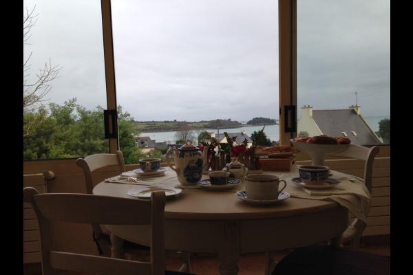 véranda point de vue magnifique sur Guilben - Chambre d'hôtes - Paimpol