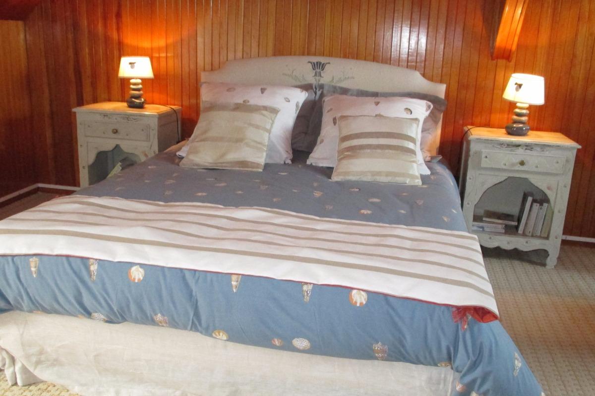 Chambre 1 lit de 140 de la suite familiale - Chambre d'hôtes - Paimpol