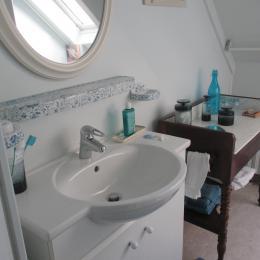 salle d'eau indépendante avec douche et wc - Chambre d'hôtes - Paimpol
