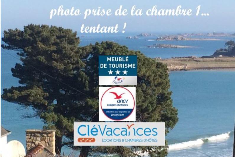 vue de la chambre 1 et de la terrasse - Location de vacances - Trévou-Tréguignec