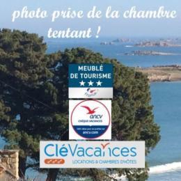 superbe vue mer de la chambre 1 - Location de vacances - Trévou-Tréguignec