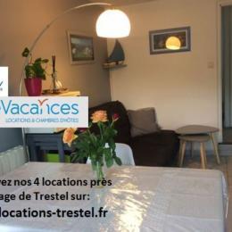 pièce de vie très claire avec espaces salon, repas et cuisine, - Location de vacances - Trévou-Tréguignec