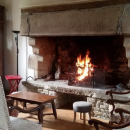 un bon feu en hiver - Location de vacances - Trédarzec