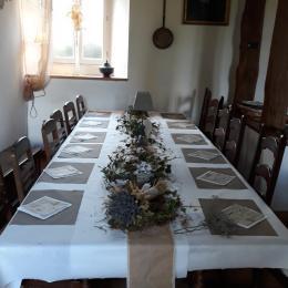 grande table de salle a manger - Location de vacances - Trédarzec