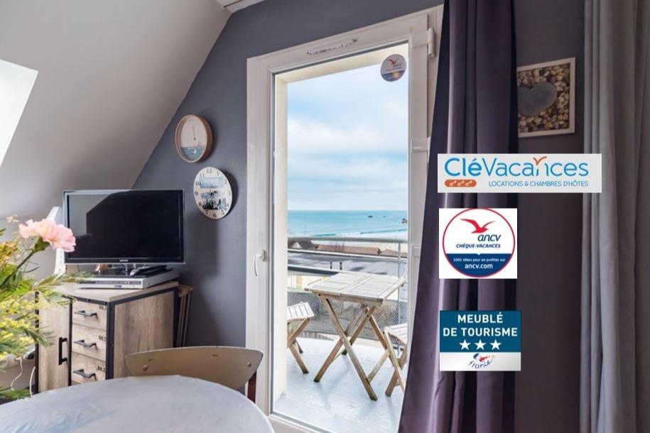 magnifique vue mer ; à 50m de la plage, au calme - Location de vacances - Trévou-Tréguignec