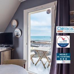 vue sur la plage de Trestel, sable blanc fin... très agréable !  - Location de vacances - Trévou-Tréguignec