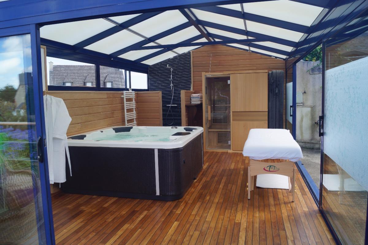 Un moment de détente jacuzzi sauna et massage - Chambre d'hôtes - Paimpol