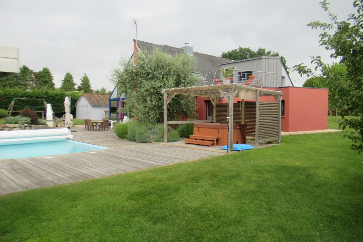 Chambre d 39 h tes 2 pers avec spa et piscine chauff e - Chambre d hote piscine bretagne ...