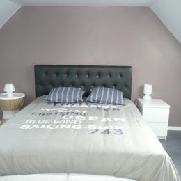 La première chambre, lit double - Location de vacances - Penvénan