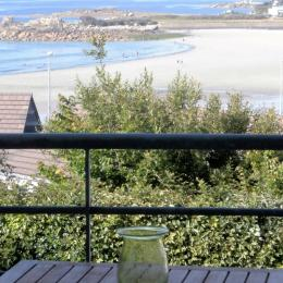 la grande et belle vue mer face à la plage de Trestel du balcon du duplex - Location de vacances - Trévou-Tréguignec