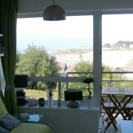 la vue du séjour côté mer - Location de vacances - Trévou-Tréguignec