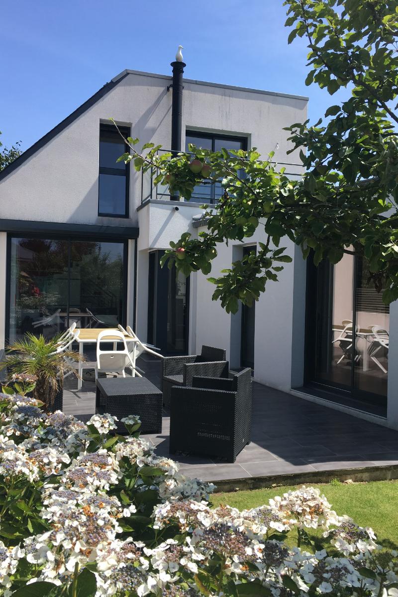 Terrasse ouest - Location de vacances - Trébeurden