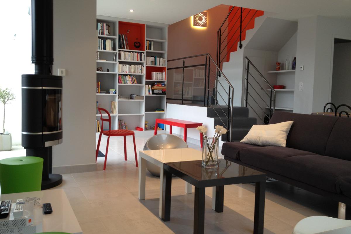 Vue du salon - Location de vacances - Trébeurden