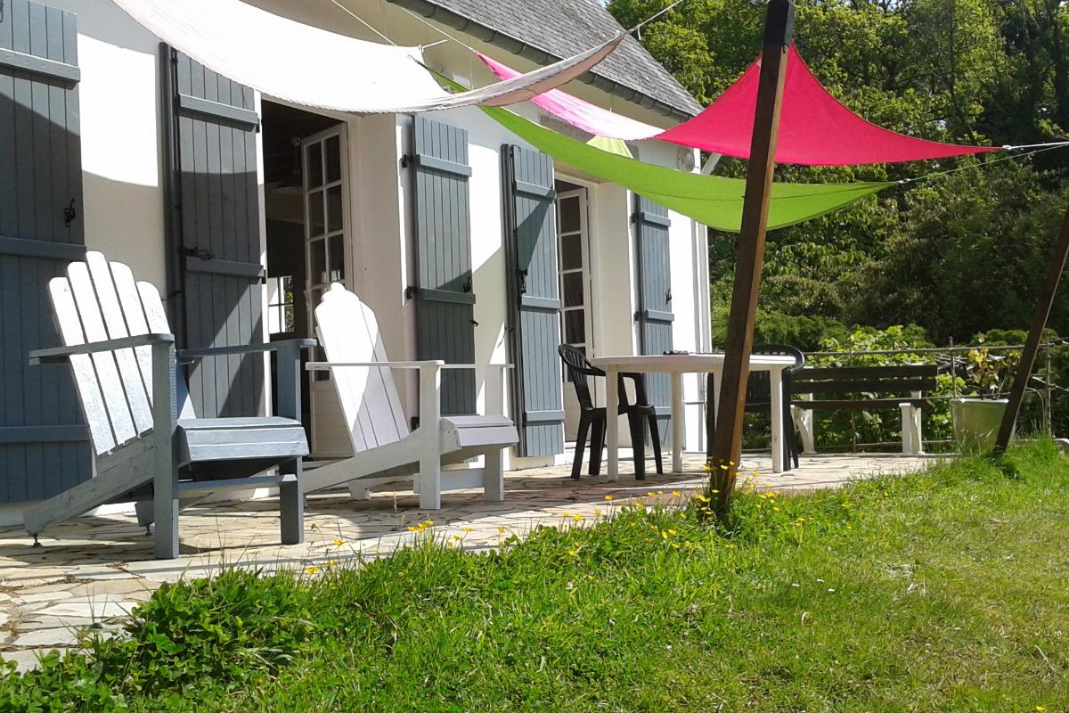 Barbecue vue sur étang - Location de vacances - Glomel