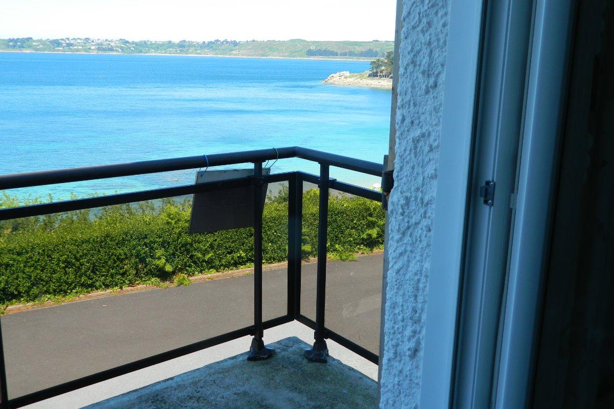 Vue du balcon de la salle à  manger - Location de vacances - Trédrez-Locquémeau