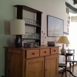 La salle à manger(10 places) et la cuisine /The dining table (10)and the open-plan kitchen - Location de vacances - Pleudaniel