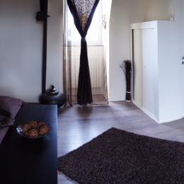 salle de bains chambre chocolat - Chambre d'hôtes - Broons