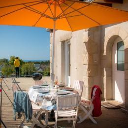 Terrasse extérieure vue mer - Location de vacances - Planguenoual