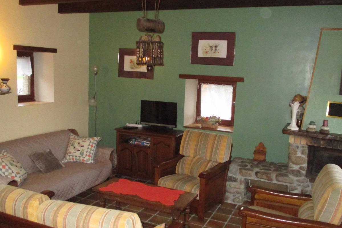 Ferme de Kerloury, Agapanthe, salon, - Location de vacances - Paimpol
