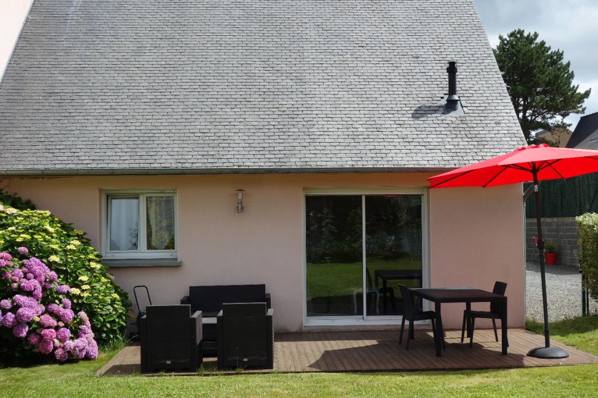 terrasse bois - Location de vacances - Louannec