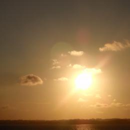 coucher de soleil depuis le jardin - Location de vacances - Plouézec