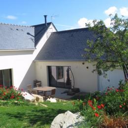 Vue du jardin de la maison sur Saint-Jacut - Location de vacances - Saint-Jacut-de-la-Mer