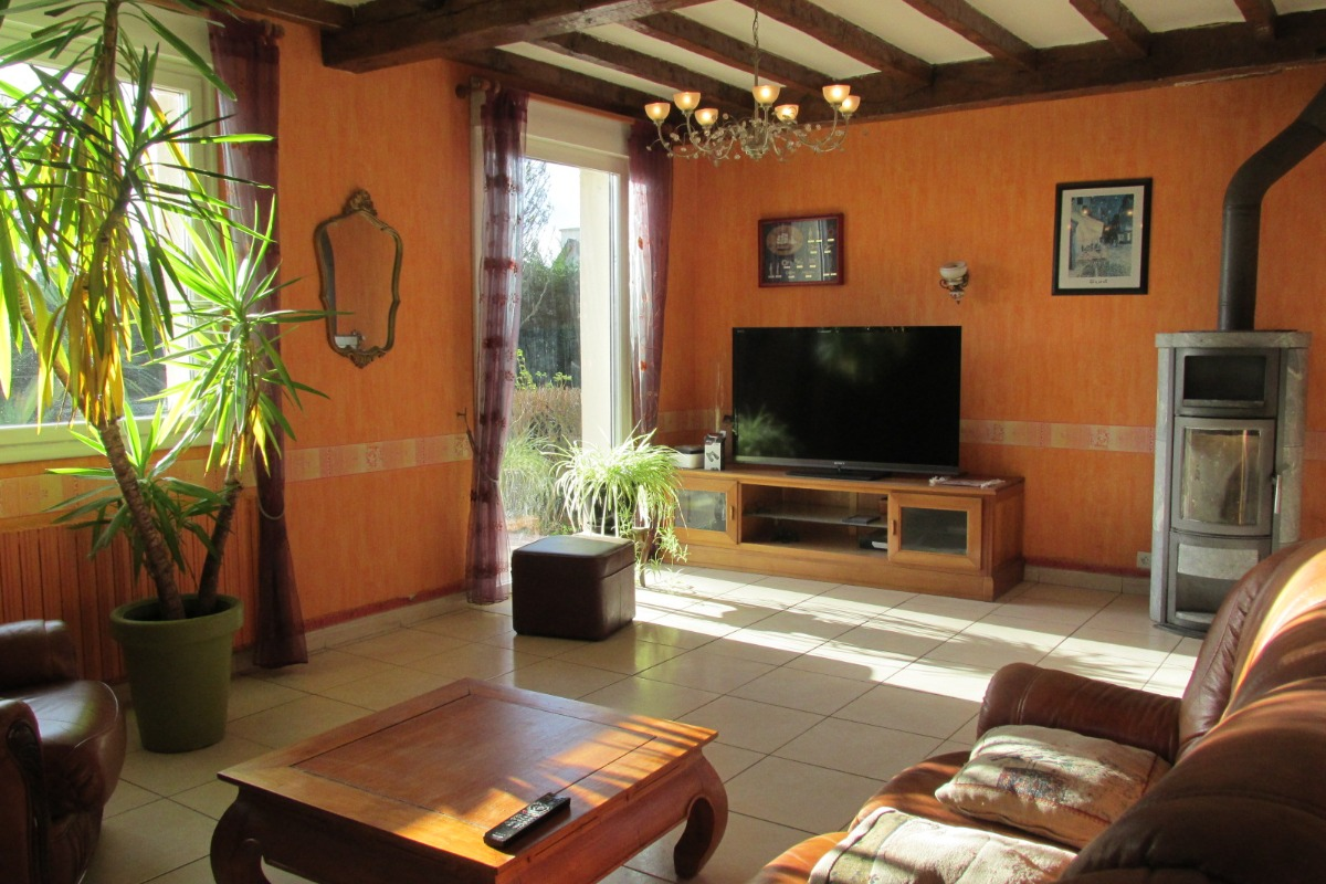 Salon tv - Chambre d'hôtes - Lamballe