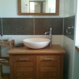 la chambre mezzanine avec un lit de 140 à l'étage - Location de vacances - Trévou-Tréguignec