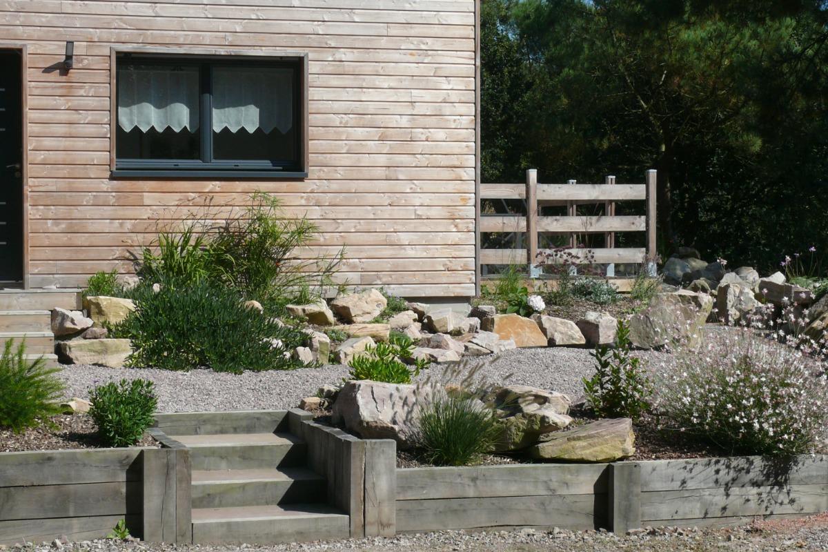 Maison neuve en bois au pied du rocher de morieux pour 4 for Maison neuve en bois