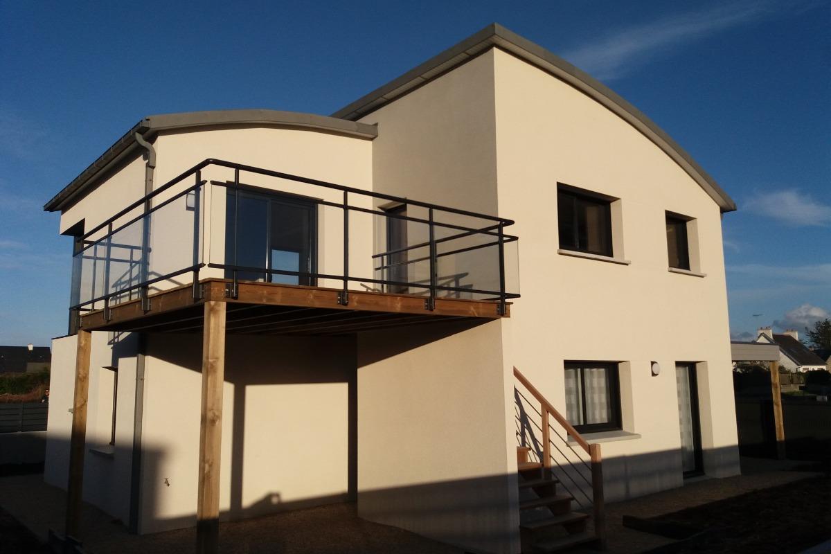 La maison vue extérieure - Location de vacances - Pleumeur-Bodou