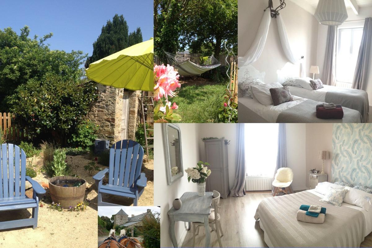 petite cour intérieure, fleurie et intime  - Location de vacances - Mégrit