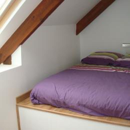 DUCLUT, location Pludual, 2ème chambre avec lit 140 sur estrade - chambre mansardée - Location de vacances - Pludual
