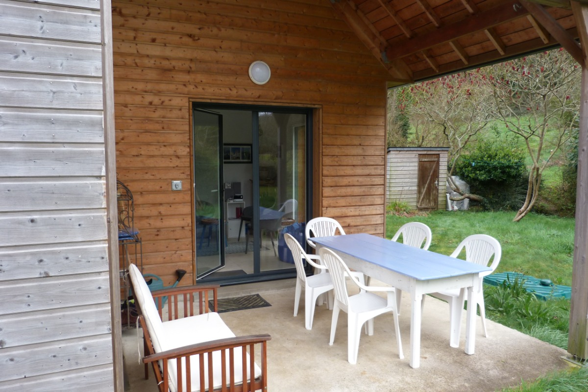La terasse extérieur, abritée - Location de vacances - Plérin