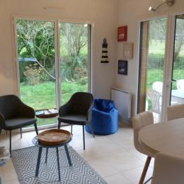 L'espace salon - Location de vacances - Plérin