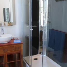 la salle d'eau avec douche  - Chambre d'hôtes - Paimpol