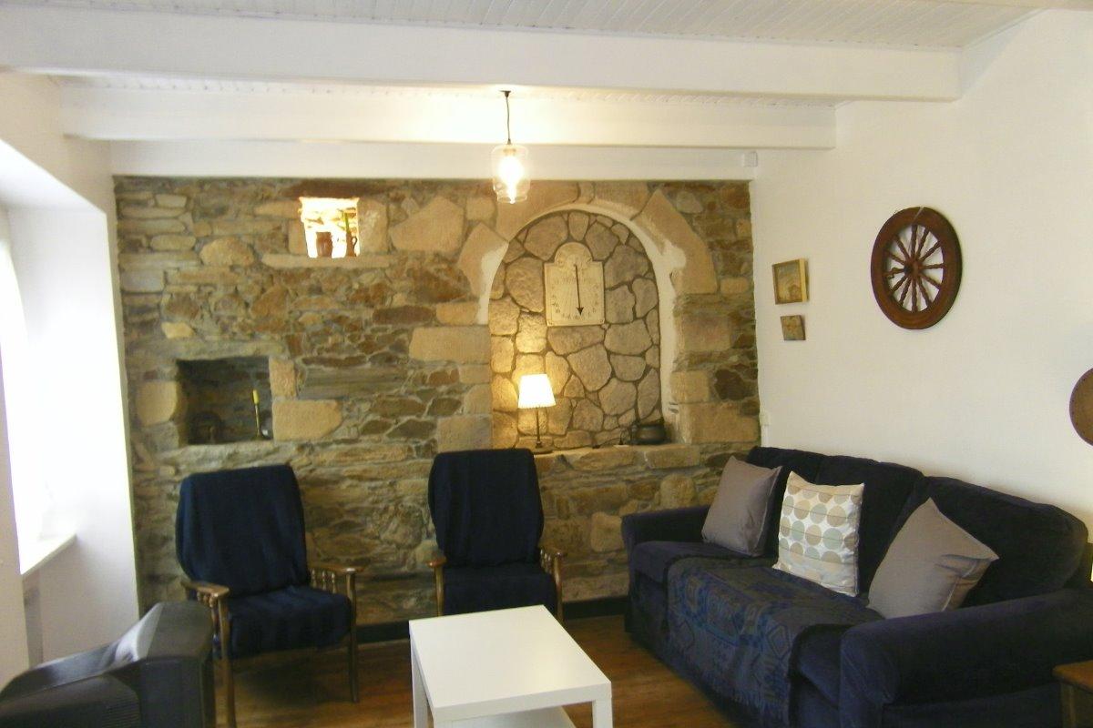 L'espace salon du rez-de-chaussée - Location de vacances - Matignon