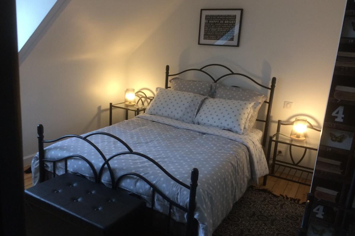 Maison d'avril, chambre d'hôtes, La chambre avec lit de 140 - Chambre d'hôtes - Plouézec