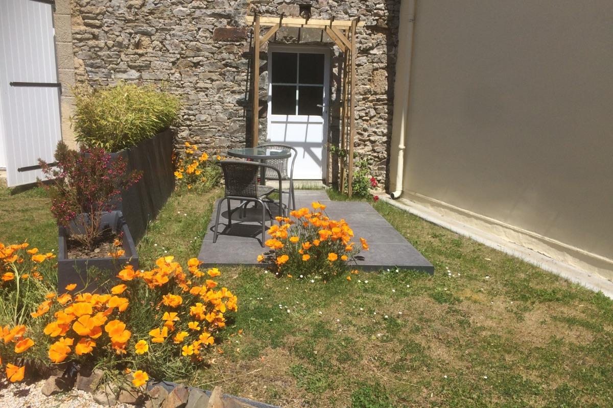 Location, Plouézec, Philippe, le séjour et la cuisine  - Location de vacances - Plouézec
